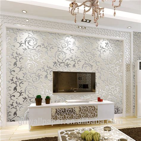 wallpaper for home interiors wall paper design home decor 3d wallpapers silver metallic