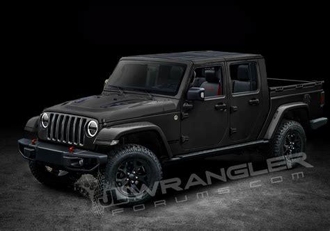jeep wrangler pickup ute rendered  caradvice