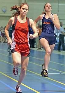 300 Meter Dash ... at the finish ... Leah Grasmeyer ...