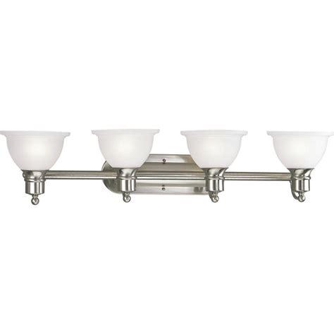 Bathroom Light Fixtures Brushed Nickel Home Depot by Progress Lighting Madison Collection 4 Light Brushed