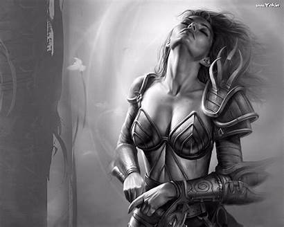 Fantasy Female Warriors Aribeth Neverwinter Nights Artwork
