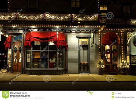 victorian storefront  christmas stock photo image