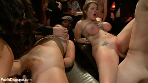 Two Girls With Gigantic Natural Tits Are Tied Up And Fucked Hard Pichunter