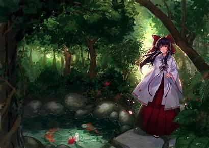 Anime Koi Touhou Fish Pond Hakurei Forest