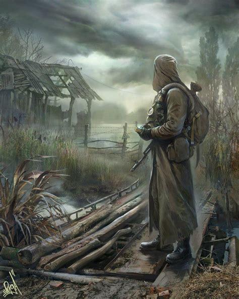 swamp deviantart stalker apocalypse leaves chernobyl apocalyptic soldier zombie cyberpunk concept fantasy dark 2033 game mask kalashnikov gas preppers central