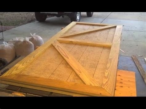 diy barn door custom shed door designed and built in one