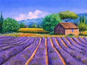 Dreamy Provence - Jean Marc Janiaczyk Landscape Paintings ...