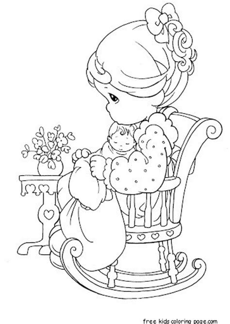 precious moments girl sitting  chair coloring pages  printable coloring pages  kids