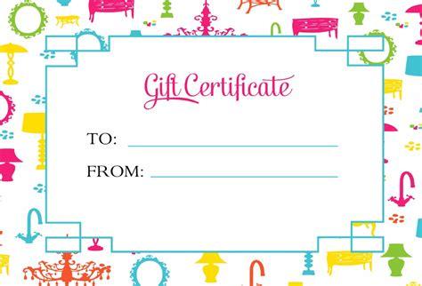 kids gift certificate template