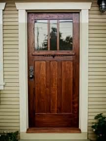 A Craftsmanstyle Door Of Spanish Cedar And Antique Glass
