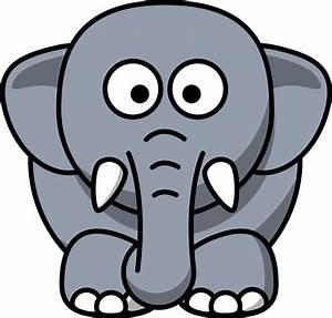 Clipart - Cartoon elephant