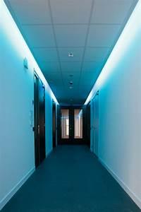 Creative blue false ceiling lamps for modern hallway