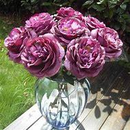 Artificial Silk Peony Flower Leaf Rose Bouquet