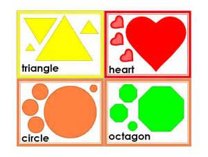 Free Printable Color Flash Cards Shapes