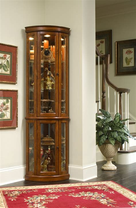 corner cabinet with glass doors exquisite corner curio cupboard ikearoute homefurniture org