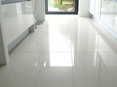 white kitchen with tile floor large white kitchen floor tiles we put shiny white tiles 1844