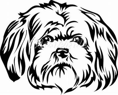 Dogs Shih Dog Silhouette Pages Stencil Patterns
