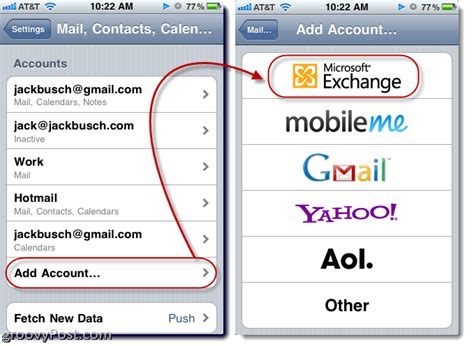 how to add email account to iphone how to add an email account in apple iphone or ipod touch