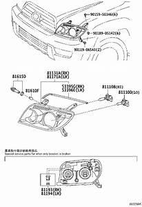 Toyota 4runner Headlight Wiring Harness  Right   Lighting