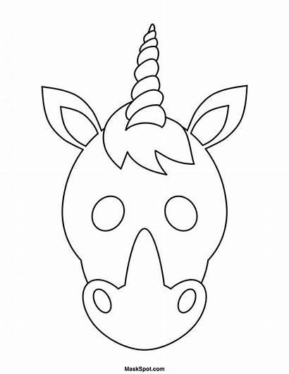 Unicorn Unicornio Mask Printable Mascara Imprimir Template