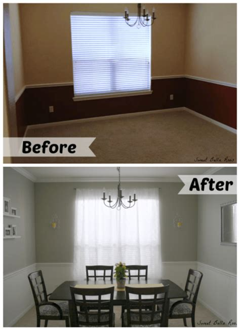 Living Room Paint Makeovers by Dining Room Makeover Before After Grace And Eats