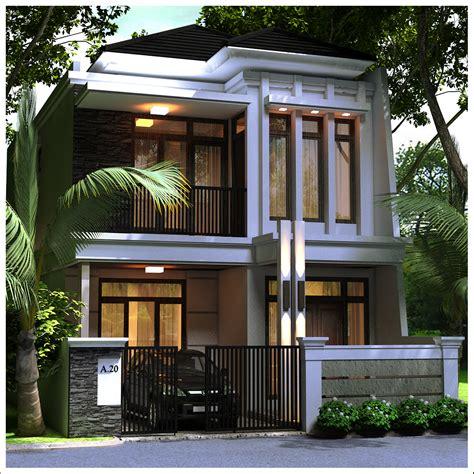 rumah minimalis modern dua lantai di jakarta gambar jasa desain rumah minimalis modern 2 lantai