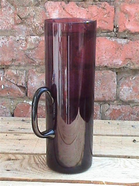 Vintage Mid Century Iittala Finnish Plum i Glass Pitcher