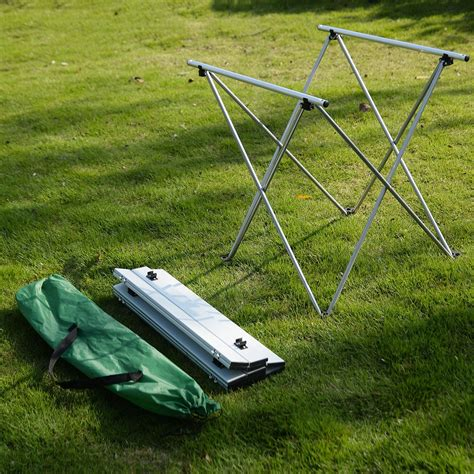 Aluminum Roll Up Table Folding Camping Outdoor Indoor