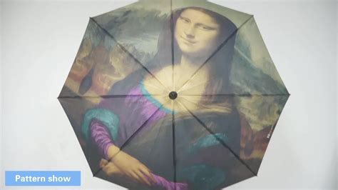 Gamis Monalisa Umbrella high strong windproof custom print mona designer