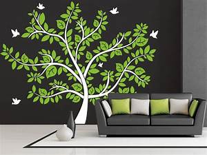 Baum Für Wohnzimmer : imposanter wandtattoo baum mit bunten bl ttern ~ Michelbontemps.com Haus und Dekorationen