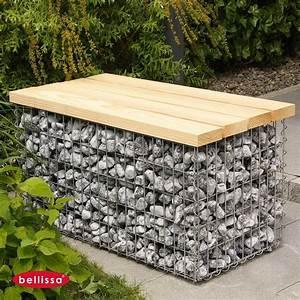 Faire Un Parterre De Galets : banc gabion 100 x 54 cm avec galets ~ Dailycaller-alerts.com Idées de Décoration