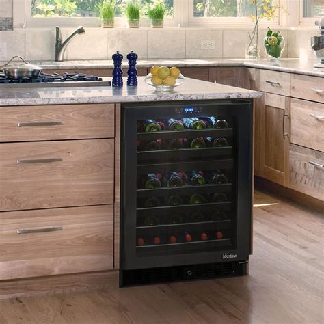 kitchen wine coolers cabinets vinotemp vt 46ts 2z 46 bottle dual zone touch screen 6484