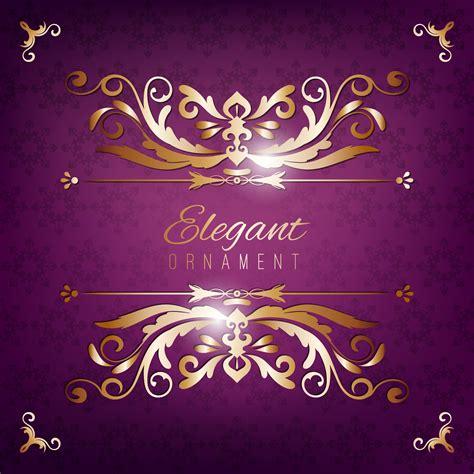 vintage invitation card purple luxury background