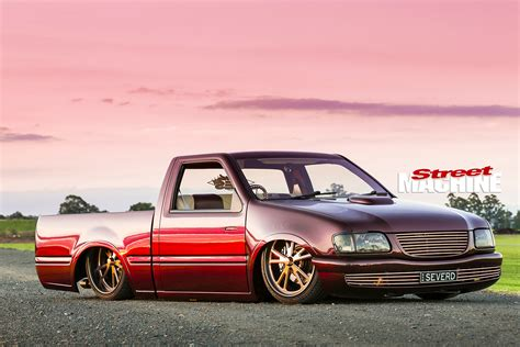 holden car truck slammed chopped holden rodeo mini truck with an ls1