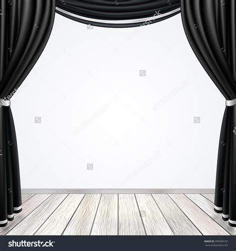 stage clipart black and white curtain black and white clipart 48