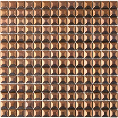 Tin Ceiling Tiles 12x12 by Shop Solistone Byzantine Metal Copper Squares