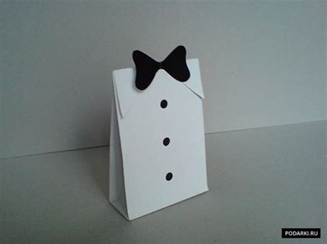 diy folded paper gift bag  men