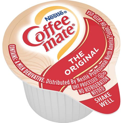 Cellulose gel and cellulose gum are fillers derived from wood pulp or cotton. NES35010 - Coffee-Mate Original Liquid Creamer Singles - Office Supply Hut