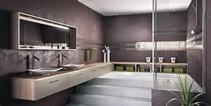 10 salles de bains qui font la tendance 2014 travauxcom With salle de bain couleur chaude