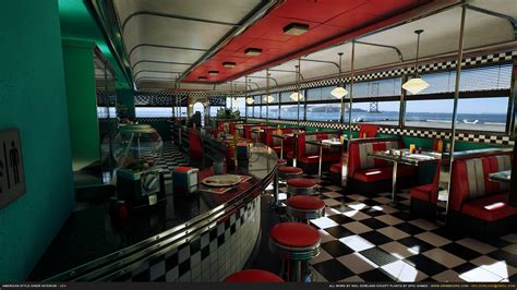 American Style Diner By Grimmsorg Studios In Environments