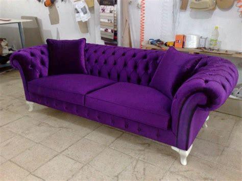 Velvet Chesterfield Sofa Purple, Blue, Pink, Bright