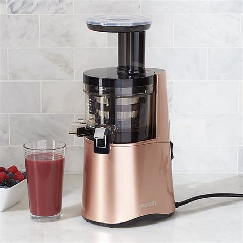 Hurom H AA Rose Gold Slow Juicer   Reviews   Crate and Barrel