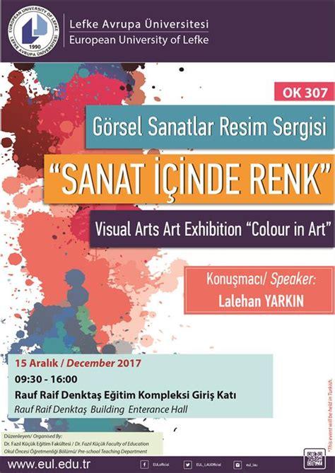visual arts art exhibition colour art european university lefke