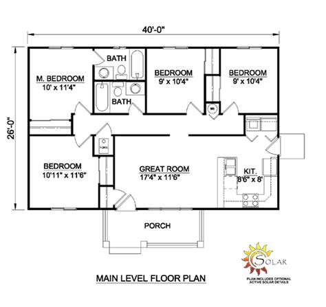 single level home designs house plan 94451 at familyhomeplans com