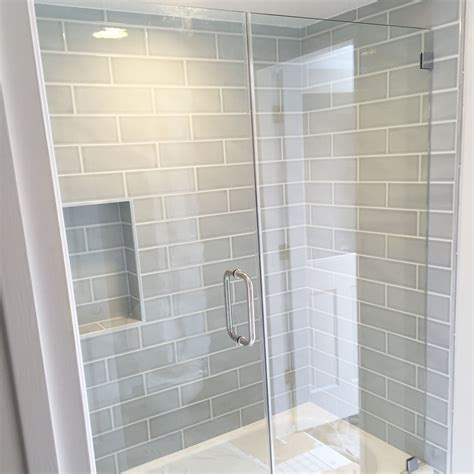 bluegray subway tile ateyeforpretty bathroom design