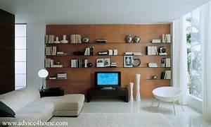 Living room wall shelf home design ideas
