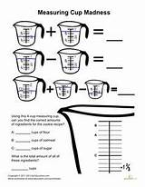 Measuring Cups Worksheets Fractions Madness Worksheet Cooking Grade Kitchen Activities 3rd Culinary Food Teaching Education Science Cup Measurement Measurements Printable sketch template