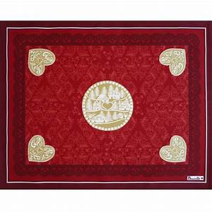 Red Cotton Placemat LHiver Placemat Beauvill