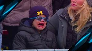 Young Michigan fan believed to be Jim Harbaugh's son ...