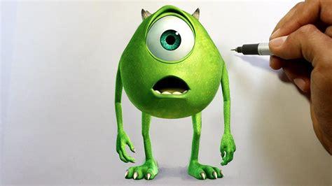 wie zeichnet man mike glotzkowski   optik die monster